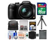 Panasonic Lumix DMC-LZ40 Digital Camera with 16GB Card + Case + Battery + Flex Tripod + Kit