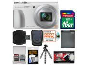 Panasonic Lumix DMC-ZS35 Wi-Fi Digital Camera (White) with 16GB Card + Case + Battery + Flex Tripod + Kit