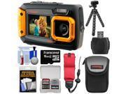 Coleman Duo 2V9WP Dual Screen Shock & Waterproof Digital Camera (Orange) with 16GB Card + Case + Float Strap + Flex Tripod + Kit