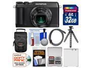 Olympus Stylus SH-1 Wi-Fi Digital Camera (Black) with 32GB Card + Case + Battery + Flex Tripod + Accessory Kit