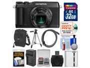 Olympus Stylus SH-1 Wi-Fi Digital Camera (Black) with 32GB Card + Case + Battery/Charger + Tripod + Kit