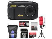 Coleman Xtreme3 C9WP Shock & Waterproof 1080p HD Digital Camera (Black) with 16GB Card + Case + Tripod + Float Strap + Kit