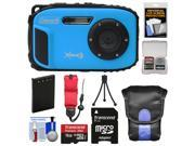 Coleman Xtreme3 C9WP Shock & Waterproof 1080p HD Digital Camera (Blue) with 16GB Card + Battery + Case + Tripod + Float Strap + Kit