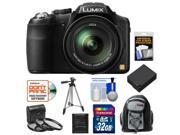 Panasonic Lumix DMC-FZ200 Digital Camera (Black) with 32GB Card + Backpack Case + Battery + 3 (UV/CPL/ND8) Filters + Tripod + Accessory Kit