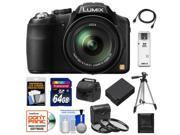 Panasonic Lumix DMC-FZ200 Digital Camera (Black) with 64GB Card + Case + Battery + 3 (UV/CPL/ND8) Filters + Tripod + Accessory Kit
