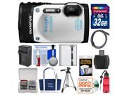Olympus Tough TG-850 iHS Shock & Waterproof Digital Camera (White) with 32GB Card + Case + Battery + Tripod + Float Strap + Accessory Kit