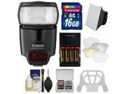 Canon Speedlite 430EX II Flash with 16GB SD Card + Softbox + Diffuser + (4) Batteries & Charger + Accessory Kit