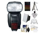 Canon Speedlite 600EX-RT Flash with Canon Tripod + Soft Box + Diffuser + Batteries & Charger + Accessory Kit