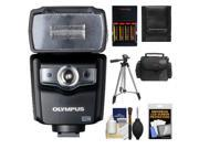 Olympus FL-600R Electronic Flash for Micro 4/3 PEN & OM-D Digital Cameras with  Batteries & Charger + Tripod + Case + Accessory Kit