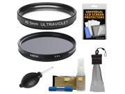 Sunpak 40.5mm UV Ultraviolet Glass Filter & 40.5mm Circular Polarizer Filter with Nikon Cleaning & Accessory Kit