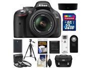 Nikon D5200 Digital SLR Camera & 18-55mm G VR DX AF-S Zoom Lens (Black) with 32GB Card + Battery + Case + 3 UV/CPL/ND8 Filters + Tripod + Accessory Kit