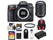 Nikon D7100 Digital SLR Camera Body with 55-200mm VR Lens + 32GB Card + Backpack + Battery + Filter + Accessory Kit