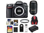 Nikon D7100 Digital SLR Camera Body with 55-300mm VR Lens + 32GB Card + Backpack + Battery + Filter + Accessory Kit