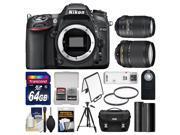 Nikon D7100 Digital SLR Camera Body with 18-140mm & 55-300mm VR Lens + 64GB Card + Case + Battery + Tripod + Filters + Kit