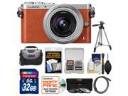 Panasonic Lumix DMC-GM1 Micro Four Thirds Digital Camera & 12-32mm Lens (Orange) with 32GB Card + Case + Tripod + 3 Filters + Kit