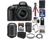 Nikon D5300 Digital SLR Camera & 18-55mm G VR DX II AF-S Zoom Lens (Black) with 55-200mm VR Lens + 32GB Card + Battery + Charger + Bag + Tripod + Kit