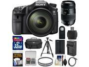Sony Alpha A77 II Wi-Fi Digital SLR Camera & 16-50mm Lens with 70-300mm Lens + 32GB Card + Battery & Charger + Case + Tripod + Filters + Kit