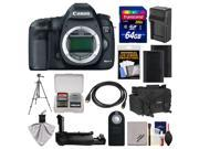 Canon EOS 5D Mark III Digital SLR Camera Body with Case + 2 Batteries & Charger + Grip + Tripod + Accessory Kit