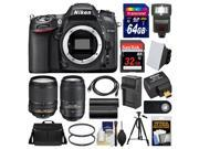 Nikon D7100 Digital SLR Camera with 18-140mm & 55-300mm VR Lenses, WU-1a, Bag & 32GB Card with 64GB Card + Flash + Battery & Charger + Tripod + Filters + Kit