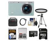 Samsung NX Mini Smart Wi-Fi Digital Camera with 9-27mm Lens & Flash (Mint Green) with 32GB Card + Case + Filter + Tripod + Accessory Kit