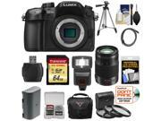 Panasonic Lumix DMC-GH4 4K Micro Four Thirds Digital Camera Body with 35-100mm f/2.8 Lens + 64GB Card + Battery + Case + Tripod + Flash + Filters Kit