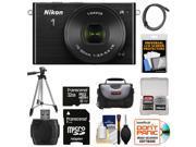 Nikon 1 J4 Digital Camera & 10-30mm PD Zoom Lens (Black) with 32GB Card + Case + Tripod + HDMI Cable + Accessory Kit