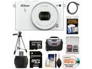 Nikon 1 J4 Digital Camera & 10-30mm PD Zoom Lens (White) with 32GB Card + Case + Tripod + HDMI Cable + Accessory Kit