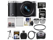 Samsung NX3000 Smart Wi-Fi Digital Camera with 16-50mm Lens & Flash (Black) with 32GB Card + Case + Battery + Tripod + Filter + Tele/Wide Lens Kit