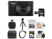 Nikon 1 J4 Digital Camera & 10-30mm PD Zoom Lens (Black) with 32GB Card + Case + Tripod & Accessory Kit