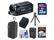 Canon Vixia HF R50 8GB Flash Memory 1080p HD Wi-Fi Digital Video Camcorder with 32GB Card + Battery & Charger + Case + Flex Tripod + Kit