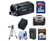 Canon Vixia HF R50 8GB Flash Memory 1080p HD Wi-Fi Digital Video Camcorder with 32GB Card + Battery & Charger + Case + Tripod + Kit