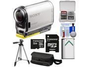 Sony Action Cam HDR-AS100V Wi-Fi GPS HD Video Camera Camcorder with 32GB Card + Battery + Case + Tripod + Kit