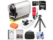 Sony Action Cam HDR-AS100V Wi-Fi GPS HD Video Camera Camcorder with 32GB Card + Battery + Surf Mount + Floating Strap + Case + Tripod Kit