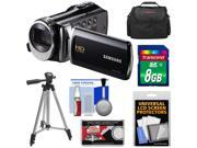 Samsung HMX-F90 HD Digital Video Camcorder (Black) with 8GB Card + Case + Tripod + Accessory Kit