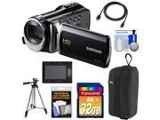 Samsung HMX-F90 HD Digital Video Camcorder (Black) with 32GB Card + Case + Battery + Tripod + HDMI Cable + Accessory Kit