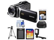 Samsung HMX-F90 HD Digital Video Camcorder (Black) with 32GB Card + Case + Battery + LED Video Light + Tripod + Accessory Kit