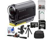 Sony Action Cam HDR-AS20 Wi-Fi 1080p HD Video Camera Camcorder with 32GB Card + Handlebar Bike & Vented Helmet Mounts + Battery + Case + Tripod + Kit