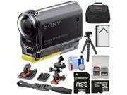 Sony Action Cam HDR-AS20 Wi-Fi 1080p HD Video Camera Camcorder with 32GB Card + Flat Surface & 2 Helmet Mounts + Battery + Case + Flex Tripod + Kit