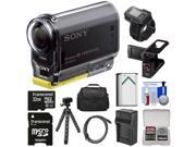 Sony Action Cam HDR-AS20 Wi-Fi 1080p HD Video Camera Camcorder with RM-LVR2 Remote + LCD Cradle + 32GB Card + Battery + Charger + Case + Tripod + Kit