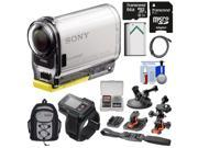 Sony Action Cam HDR-AS100VR Wi-Fi GPS HD Video Camera Camcorder & Live View Remote with 64GB Card + Flat Surface, Suction Cup & 2 Helmet Mounts + Battery + Backpack + Kit