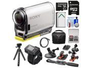 Sony Action Cam HDR-AS100VR Wi-Fi GPS HD Video Camera Camcorder & Live View Remote with 64GB Card + Flat Surface, Suction Cup & Helmet Mounts + Battery + Case + Tripod + Kit