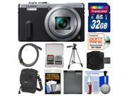 Panasonic Lumix DMC-ZS40 Wi-Fi GPS Digital Camera (Silver) with 32GB Card + Case + Battery + Tripod + Kit