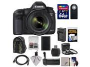 Canon EOS 5D Mark III Digital SLR Camera with EF 24-70mm f/4.0L IS USM Lens & 64GB Card + Backpack + Grip + Battery & Charger + HDMI Cable + 3 Filters Kit