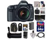 Canon EOS 5D Mark III Digital SLR Camera with EF 24-105mm L IS USM Lens with 64GB Card + Battery & Charger + Grip + Backpack Case + 3 Filters + Accessory Kit