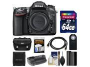 Nikon D7100 Digital SLR Camera Body with 64GB Card + Case + Battery & Grip + HDMI Cable + Remote + Accessory Kit