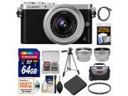Panasonic Lumix DMC-GM1 Micro Four Thirds Digital Camera & 12-32mm Lens with 64GB Card + Battery + Case + Filter + Tripod + Tele/Wide Lenses Kit