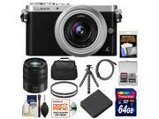Panasonic Lumix DMC-GM1 Micro Four Thirds Digital Camera & 12-32mm Lens with 45-150mm Lens + 64GB Card + Battery + Case + Filters + Flex Tripod Kit