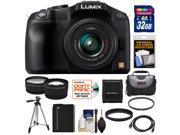Panasonic Lumix DMC-G6 Micro Four Thirds Digital Camera with G Vario 14-42mm Lens (Black) with 32GB Card + Battery + Case + Tripod + Filter + Tele/Wide Lenses + Accessory Kit