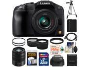 Panasonic Lumix DMC-G6 Micro Four Thirds Digital Camera with G Vario 14-42mm Lens (Black) with 45-150mm Lens + 32GB Card + Battery + Case + Filters + Tripod + Tele/ Wide Lens Kit