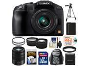 Panasonic Lumix DMC-G6 Micro Four Thirds Digital Camera with G Vario 14-42mm Lens (Black) with 45-150mm Lens + 32GB Card + Battery + Backpack Case + Tripod + Tele/ Wide Lens Kit